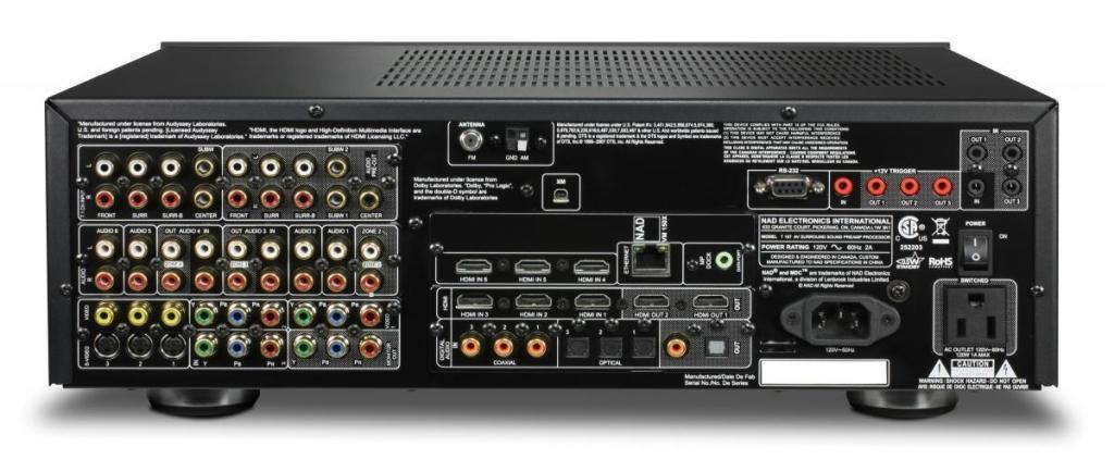 NAD T 187 Audiophile házimozi processzor csatlakoztatása