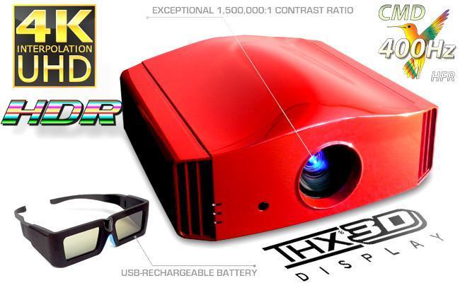 DreamVision Siglos+ 3 aktív 3D, 4K Ultra HD házimozi projektor