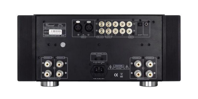 Vincent Audio SV-700 High-End hybrid integrált sztereó erősítő csatlakozó