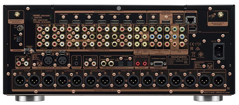 Marantz-AV8802A-előerősítő-processzor-csatlakozó
