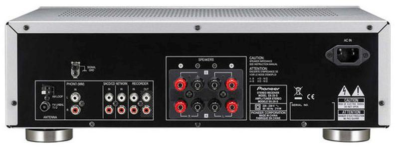 Pioneer-SX-20-sztereó-rádióerősítő-csatlakozó
