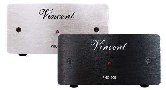Vincent Audio PHO-200 MM, MC phono előerősítő ezüst fekete