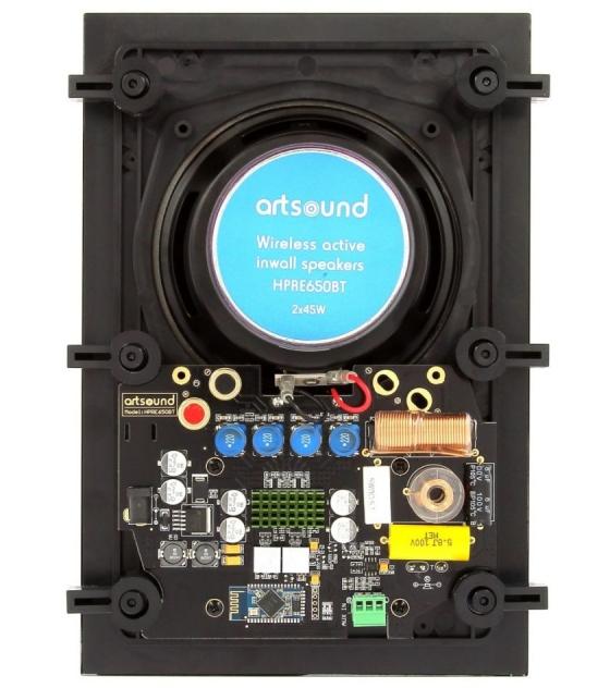 Artsound HPRE650BT Bluetooth-os falba építhető hangsugárzó pár mágnes