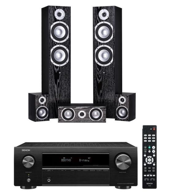 Denon AVR-X250BT házimozi erősítő + Wilson Estrada 5.0 házimozi hangfalszett fekete
