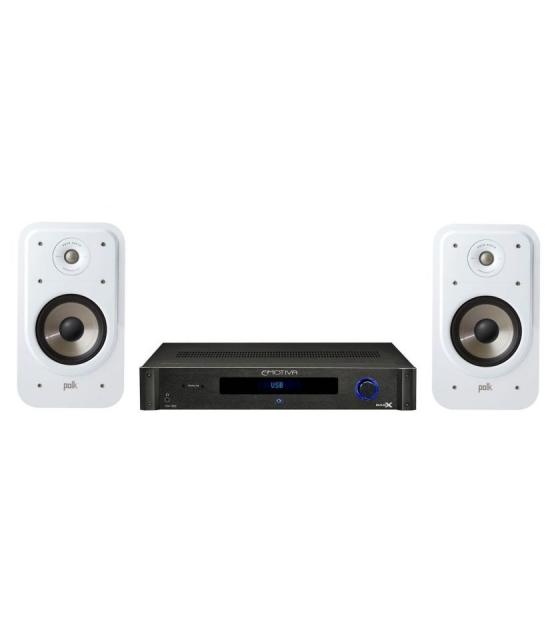 Emotiva BasX TA-100 sztereo erösitö + Polk Audio S20E polchangfal pár