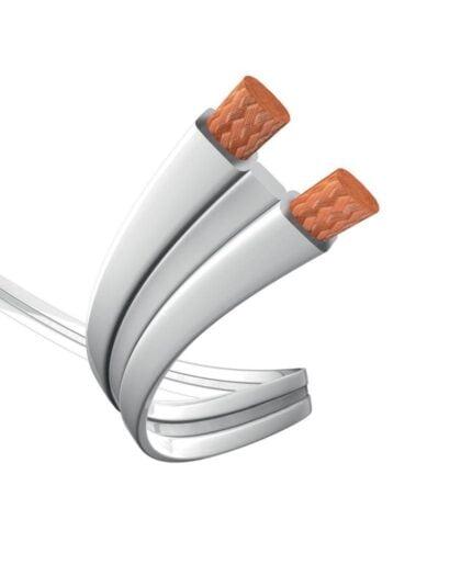 Inakustik Premium Slim Line 2,5mm2 Mini Spool fehér köpenyű szőtt lapos kábel 10 m
