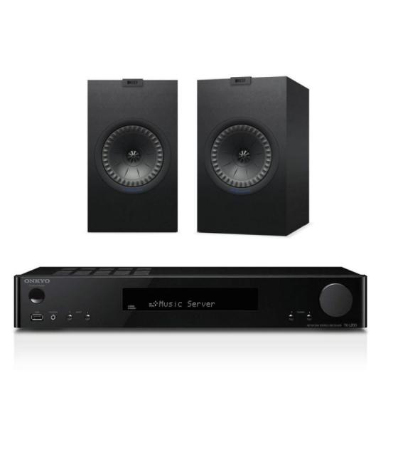 Onkyo TX-L20D hálózati sztereó erősítő + Kef Q350 polc hangfal szett bl