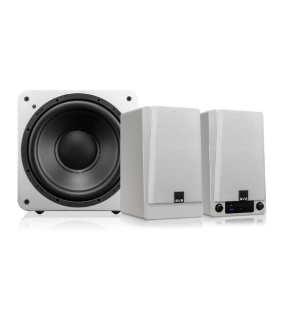 SVS Prime vezeték nélküli aktív hangfal + SVS SB-1000 aktív mélyláda szett feher