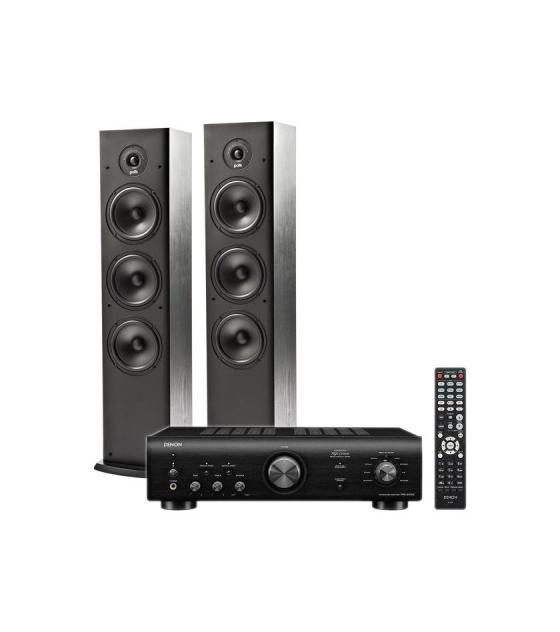 Denon PMA-600NE sztereó erősítő + Polk Audio T-50 hangfal pár bl